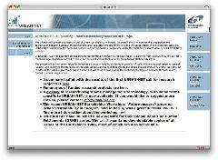 Screenshot of the Urbannet homepage